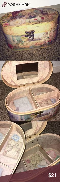 Destination Jewelry Box/Bag Brand new. With handle jewelry tote/box/bag. Lift out tray with bottom storage. Great gift idea for the holidays. Destinations Bags Cosmetic Bags & Cases