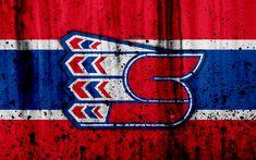 Download wallpapers Spokane Chiefs, 4k, grunge, WHL, hockey, Canada, logo, stone texture, art, Western Hockey League