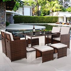 Brown 9 PC Mix Patio Garden Wicker Rattan Sofa Set Furniture Cushioned W/Ottoman .(from question? Fast way: send us message w/ name: Brown 9 PC Mix Patio Garden Wicker Rattan Sofa Set Furniture Cushioned W/Ottoman .