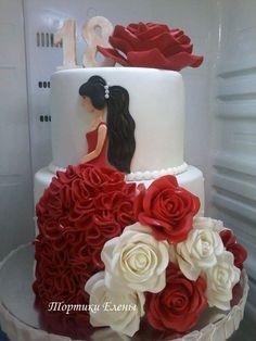 Birthday cupcakes ideas girly Ideas for 2019 Girly Cakes, Teen Cakes, Fancy Cakes, Beautiful Birthday Cakes, Beautiful Cakes, Pretty Cakes, Cute Cakes, Sweet 15 Cakes, Silhouette Cake