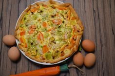 Food and More - Rezeptra: Möhren-Lauch-Quiche