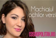 Tutorial VIDEO de make-up pentru ochii verzi Cosmopolitan, Make Up, Maquillaje, Beauty Makeup, Makeup, Bronzer Makeup, Maquiagem