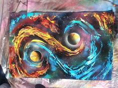 Spray paint art by Nate Bockus Galaxy Painting, Car Painting, Spray Painting, Spray Paint Artwork, Spray Can Art, Beauty Art, Art Tutorials, Painting Inspiration, Art Pictures