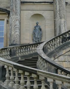 Kedleston Hall in Derbyshire was erected in the 1760`s by the first Baron Scarsdale, on the site of large buildings that had been occupied by the Curzon family for hundreds of years.