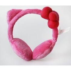 Amazon.com: Hello Kitty Kids Pink Plush Earmuffs: Clothing