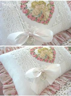 Image detail for -Ruffled Pillow Designs By Lynn-pink, roses, shabby, chic, ruffles ...