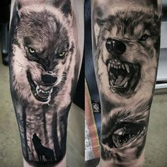 Wolf tattoos posted by @bnginksociety
