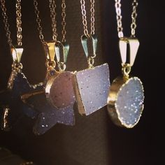Druzy necklaces Under $25 || www.bcpjewelry.com || #bcpjewelry