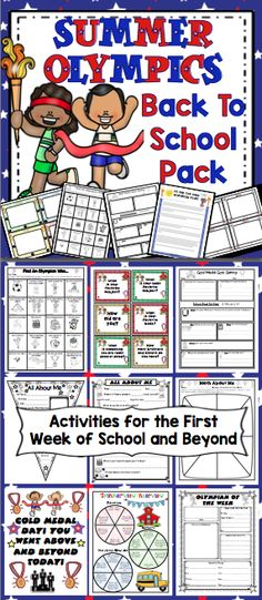 Olympic Classroom Pack: Includes everything you need for setting up a Olympic theme classroom! It includes classroom decor, open house activities, first week activities, and much more! $