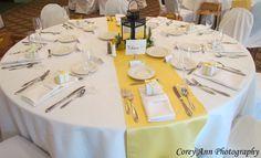 Texas Life: Yellow Wedding Centerpieces