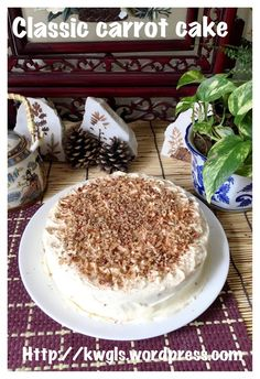 Classic Carrot Cake With Cream Cheese Frosting (红萝卜蛋糕)#guaishushu #kenneth_goh   #carrot_cake  #红萝卜蛋糕