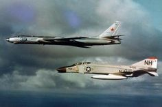 United States Navy F-4B Phantom II intercepting a Soviet Union TU-16 Badger (Circa 1963)