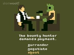 Han And Greedo Duke It Out In 8-Bit [T-Shirt]