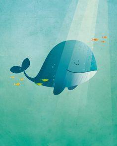Wal Kinderzimmer Kunst Kinderzimmer Dekor Wal Kunst von IreneGoughPrints – Whale Nursery Art Nursery Decor Whale Art by IreneGoughPrints –