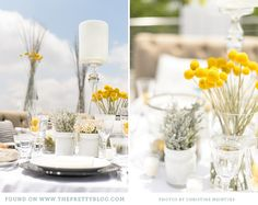 Yellow flowers  and baby breath, replace yellow with something else.