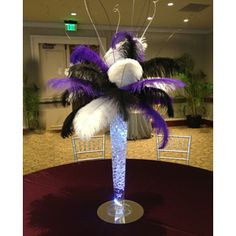Reverse Trumpet Ostrich Feather Centerpiece Kits with/Holly wood glam/Great Gatsby/Bling/Tall Centerpieces/Eiffel Tower Vase Masquerade Party Decorations, Masquerade Theme, Masquerade Ball, Balloon Centerpieces, Wedding Centerpieces, Chandelier Centerpiece, Tall Centerpiece, Centrepieces, Ostrich Feather Centerpieces
