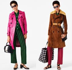 Bally of Switzerland 2017 Resort Cruise Pre-Spring Womens Lookbook Presentation - 1960s Sixties Mod 1970s Seventies Rock Acid Wash Bleached Mesh Fishnet Denim Jeans Stripes Flowers Floral Knitwear Turtleneck Outerwear Trench Coat Embroidery Silk Jogger Sweatpants Suede Tote Handbag Poodle Skirt Accordion Pleats Jacket Pussycat Bow Ribbon Quilted Waffle Puffer Hypnotic Snakeskin Boots