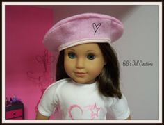 Paris  inspired doll beret for American Girl by GiGisDollCreations