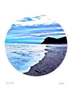 SEA FOAM - photography,sea scape, sea print, beach, circle, rustic, art photography, skehan, vintage photo print by LittleOwlArtHouse on Etsy