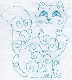 more cat designs on site would make cute for quilt blocks; embroidery