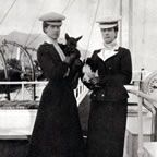 Queen Alexandra with daughter Victoria and Scottie Mac