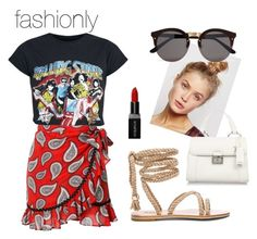 """""""summer"""" by fashionlyyy on Polyvore featuring Dodo Bar Or, Free People, Illesteva, Smashbox and Miu Miu"""