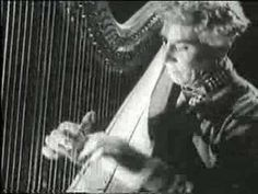 Harpo Marx - Guardian Angels (1945) never heard a percusive harp before ...shades of a Spanish guitar...& BY WHOM!!!!!!