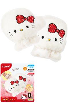 #HelloKitty baby gloves (o^^o) ラトル(ハローキティシリーズ)   コンビ株式会社 Hello Kitty Merchandise, Sanrio Hello Kitty, Toys, Activity Toys, Toy