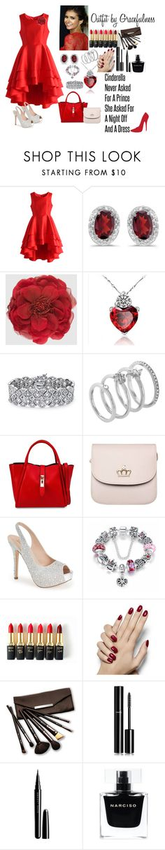 """""""Red"""" by gracefulness13 on Polyvore featuring Chicwish, BillyTheTree, Gucci, Palm Beach Jewelry, Vince Camuto, Unisa, Lauren Lorraine, Emma Watson, L'Oréal Paris and Borghese"""