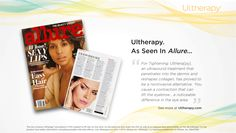 """""""For Tightening: Ulthera[py], an ultrasound treatment that penetrates into the dermis and reshapes collagen, has proved to be a noninvasive alternative. 'You cause a contraction that can lift the eyebrow...a noticeable difference in the eye area.'"""" #Ultherapy #BrowLift #Allure"""
