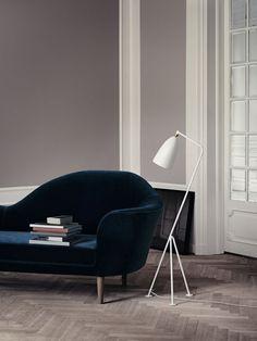 GUBI // Gräshoppa floor lamp and Grand Piano sofa
