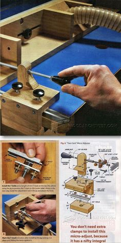 Router Table Fence Micro Adjuster - Router Tips, Jigs and Fixtures | WoodArchivist.com