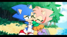 Sonic and Amy Sonic The Hedgehog, Silver The Hedgehog, Amy Rose, Sonic Y Amy, The Sonic, Sonamy Comic, Mundo Dos Games, Classic Sonic, Sonic Mania