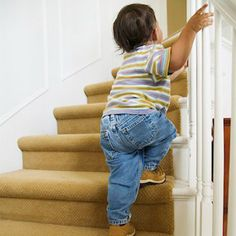 Teach your toddler to walk up the stairs and down again (and keep him safe while he learns) with these tips from WhatToExpect.com.