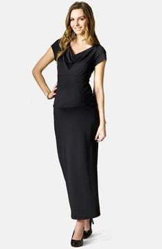 Black Deluxe Short Satin Maternity Dress   Shorts, Satin and Black