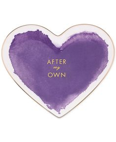 kate spade new york Posy Court Purple Heart Dish - Collections - For The Home - Macy's