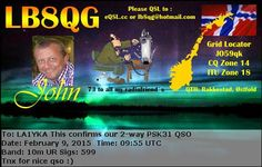 I like this QSL very much . He is a New operator Very Nice QSL   Norway