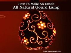 How To Make An Exotic All Natural Gourd Lamp         *** MUST MAKE ONE ***