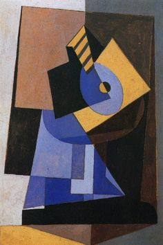 """Pablo Picasso - """"Mandolin on a pedestal"""". 1920 via John Skrabalak Kunst Picasso, Picasso Cubism, Picasso Paintings, Oil Paintings, Indian Paintings, Landscape Paintings, Acrylic Painting Lessons, Oil Painting Abstract, Watercolor Artists"""