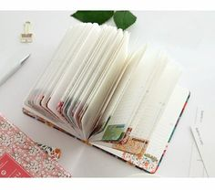 New Arrival Cute Pu Leather Floral Flower Schedule Book Diary