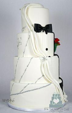W9146 wedding dress tuxedo wedding cake toronto oakville