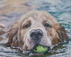 Golden Retriever CANVAS art print of LA Shepard by TheDogLover, $19.99