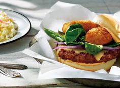 Jalapeño Popper Burgers Recipe from #PublixAprons I love these I used turkey burgers instead & pored Worcestershire sauce on them while they were cooking. you can also sub morning star veggie burgers for vegetarians.