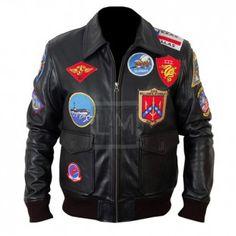Top Gun Black Bomber Leather Jacket