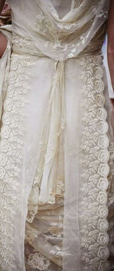 This era, this style ... just makes me swoon // Bridal Gown #Edwardian #lace