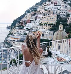 "31k Likes, 459 Comments - Leonie Hanne (@ohhcouture) on Instagram: ""Nothing beats pizza for take away when you have a balcony with this view... #ohhPositano…"""
