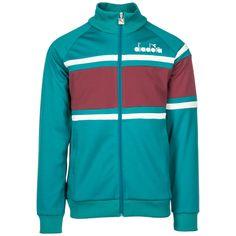 Diadora Men's Sweatshirt With Zip Sweat In Green Sports Tracksuits, Mens Sweatshirts, Hoodies, My Outfit, Adidas Jacket, Joy, Mens Fashion, Green, Clothing