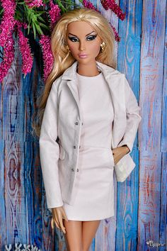 "ELENPRIV powder leather jacket with full polyester lining for Fashion royalty FR:16 ITBE 16"" and similar body size dolls by elenpriv on Etsy"