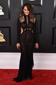 Chrissy Teigen - Fashion hits and misses from the 2017 Grammy Awards