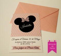 Invitación Minnie Chic
